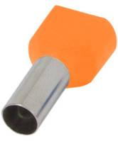 Наконечник изолированный на 2 провода E.NEXT - 2x0,75 кв.мм; оранжевый; 100 шт/уп