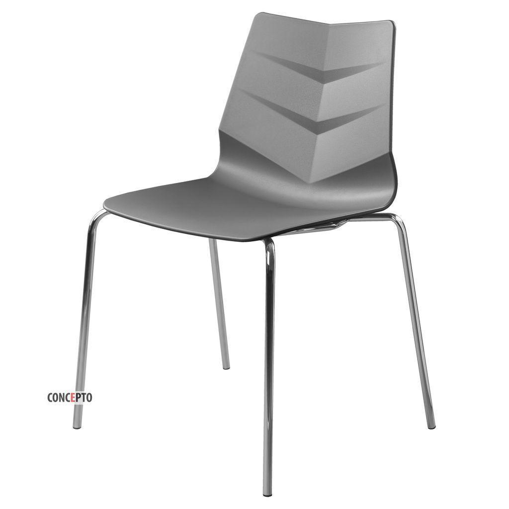 Leaf (Лиф) Concepto cтул пластиковый серый