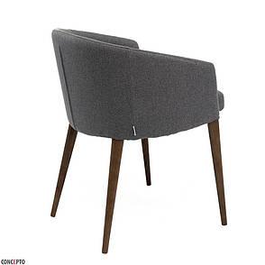 Point (Поинт) Concepto кресло обеденное ткань серое, фото 2