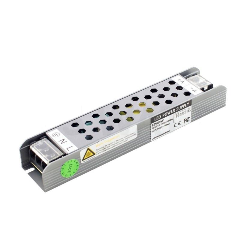Блок питания 60W Professional для светодиодной ленты DC12 BPU-60 5А