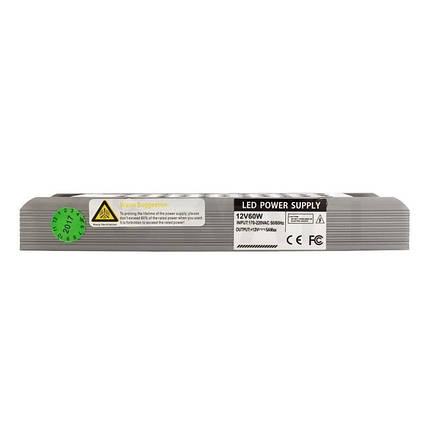 Блок питания 60W Professional для светодиодной ленты DC12 BPU-60 5А, фото 2
