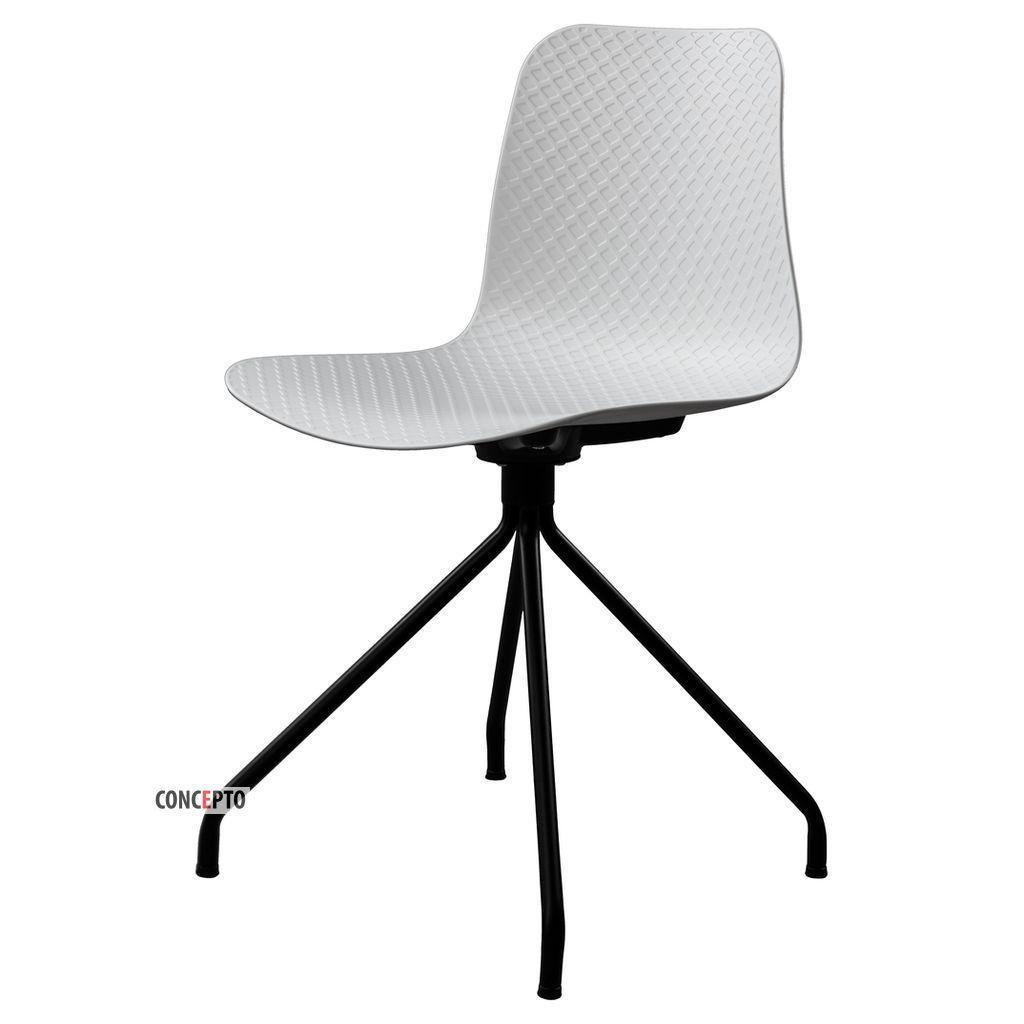 Velvet (Вельвет) Concepto cтул пластиковый белый (чёрные ножки)