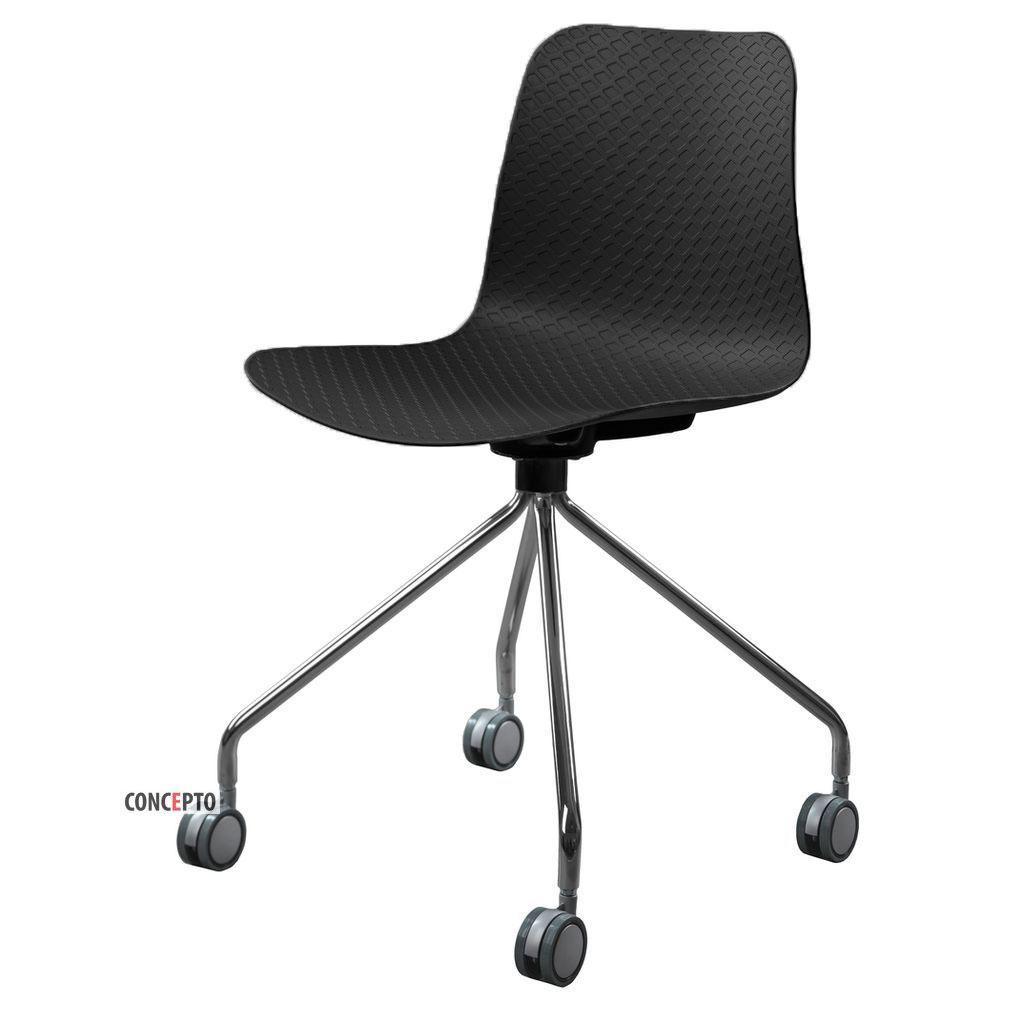 Velvet Wheels  (Вельвет Вилз) Concepto стул пластиковый чёрный на колёсиках