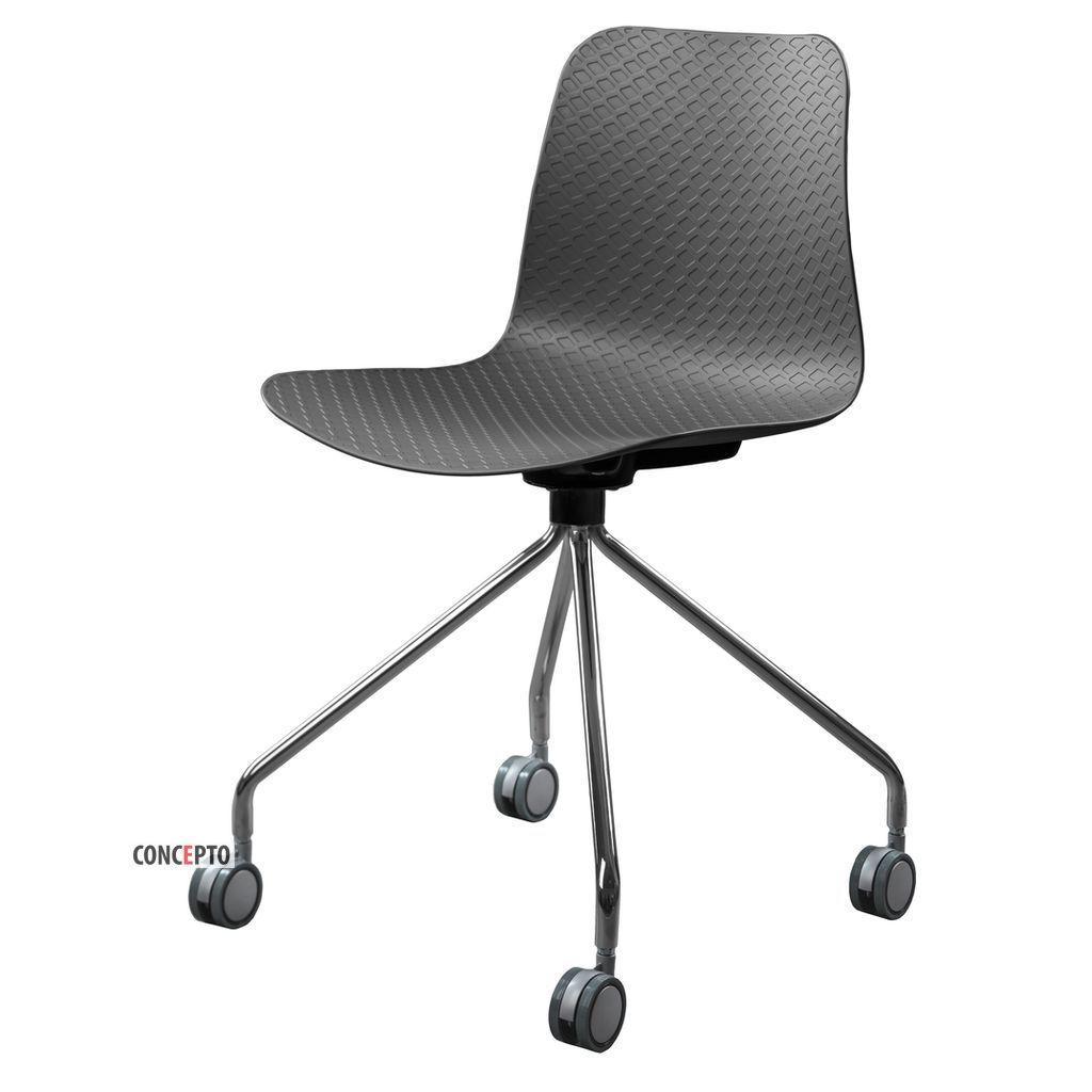 Velvet Wheels (Вельвет Вилз) Concepto стул пластиковый серый на колёсиках