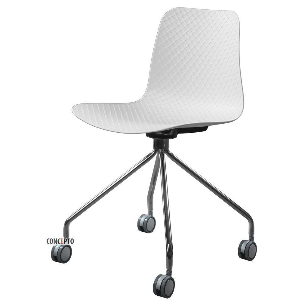 Velvet Wheels (Вельвет Вилз) Concepto стул пластиковый белый на колёсиках