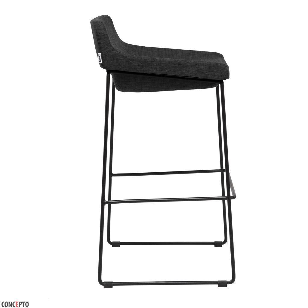 Comfy (Комфи) Concepto полубарный стул мягкий чёрный