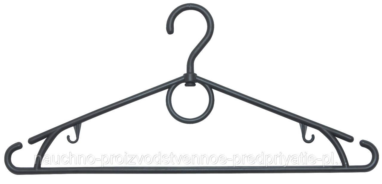 Плечико с поворотным крючком №03, черная, 40 см.