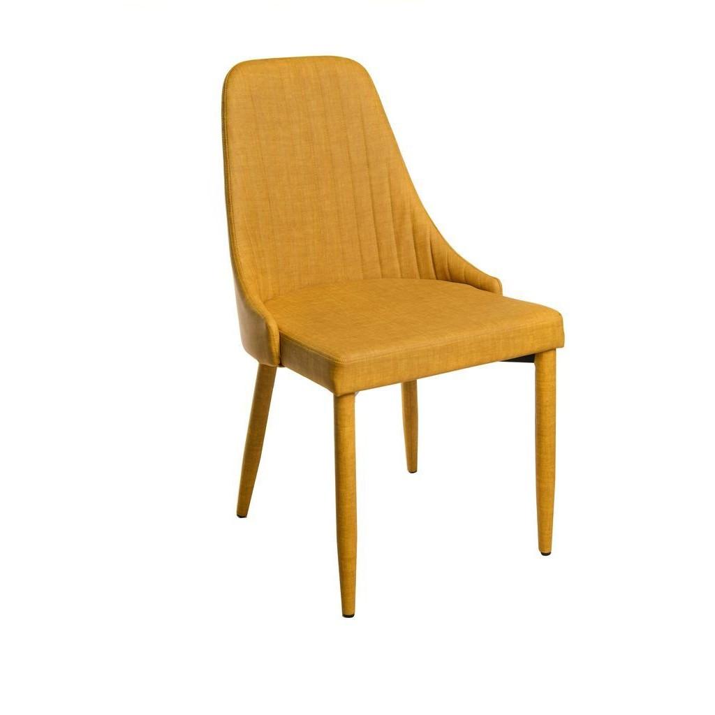Alanis (Аланис) стул кожзам горчичный лён