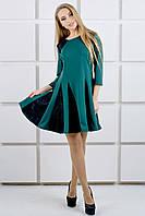 """Платье """"Хэлли"""" р. 44-52 зеленый"""