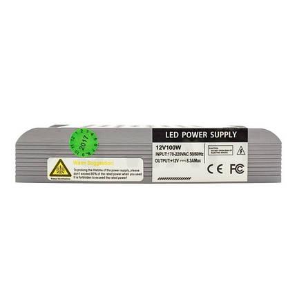 Блок питания 100W Professional для светодиодной ленты DC12 BPU-100 8,3А, фото 2