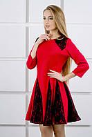 """Платье """"Хэлли"""" р. 44-52 красный, фото 1"""