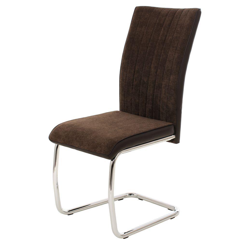 Bonny (Бонни) стул текстиль+кожзам коричневый