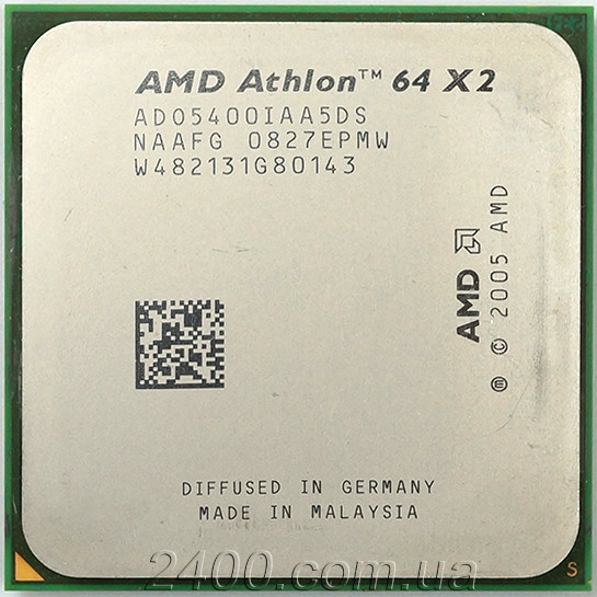 Процессор AMD Athlon 64 X2 5400+ (2800MHz, сокет AM2) ADO5400IAA5DS