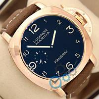 Часы Panerai Officine Mechanic Gold\Blue - Brown реплика