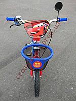 Детский двухколесный велосипед Azimut Тачки 18  дюймов для мальчика