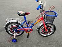 Детский двухколесный велосипед Azimut Тачки 16 дюймов для мальчика