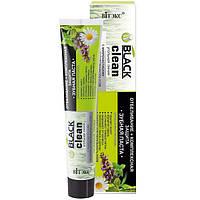 Зубная паста отбеливание и комплексная защита с микрочастицами активированного угля и лечебными травами, Black Clean Витекс