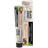 Зубная паста отбеливание и защита десен с микрочастицами активированного угля и корой дуба, Black Clean Витекс