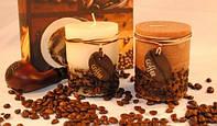 Ароматизированная свеча - цилиндр Кофе Код:118-108828