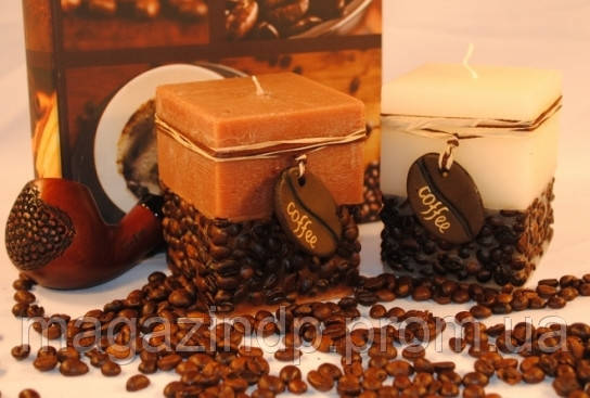 Ароматизированная свеча - куб Кофе Код:118-108829 - Интернет-магазин У Фёдора в Днепре