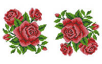 """Схема для вышивки на водорастворимом флизелине """"Розы"""""""