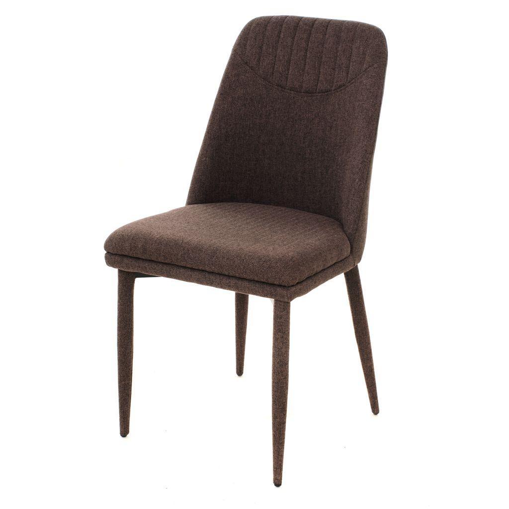 Clara (Клара) стул мягкий текстиль коричневый