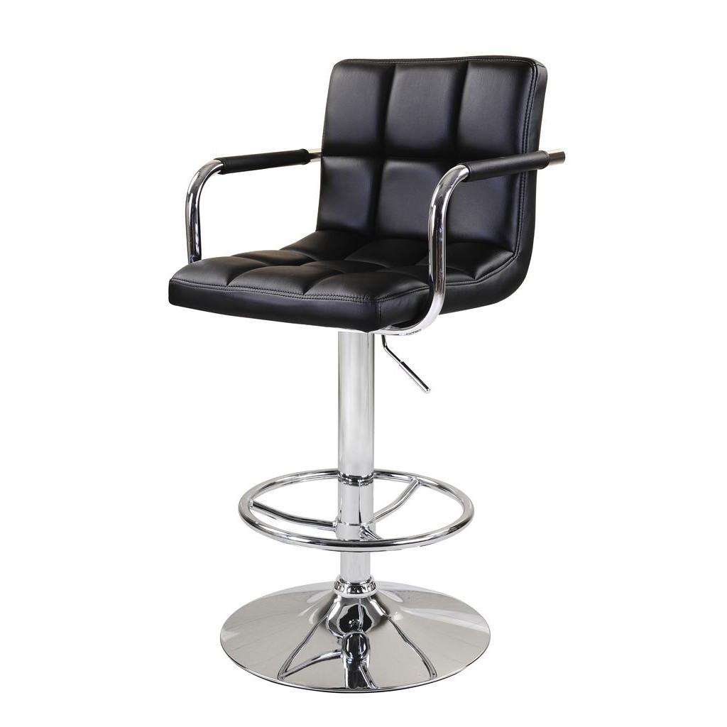 Daniel (Даниэль) барный стул с подлокотниками чёрный