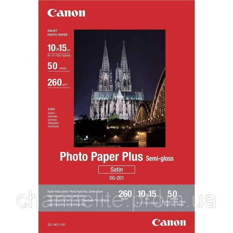 "Бумага Canon 4""x6"" Photo Paper Plus Semi-gloss SG-201 50л."