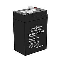 Аккумулятор LogicPower LPM 6V 4,5AH (LPM 6-4.5 AH)
