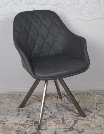 Кресло поворотное  Almeria (Альмерия) ALMERIA ,  цвет серый экокожа
