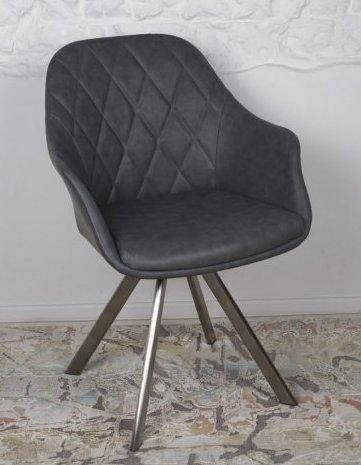 Кресло поворотное  Almeria (Альмерия) ALMERIA ,  цвет серый экокожа, фото 2