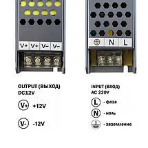 Блок питания 150W Professional для светодиодной ленты DC12 BPU-150 12,5А, фото 3
