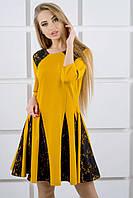 """Платье """"Хэлли"""" р. 44-52 горчица"""