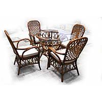 Feofaniya Classic (Феофания Классик) комплект обеденный (стол+4 кресла) ореховый