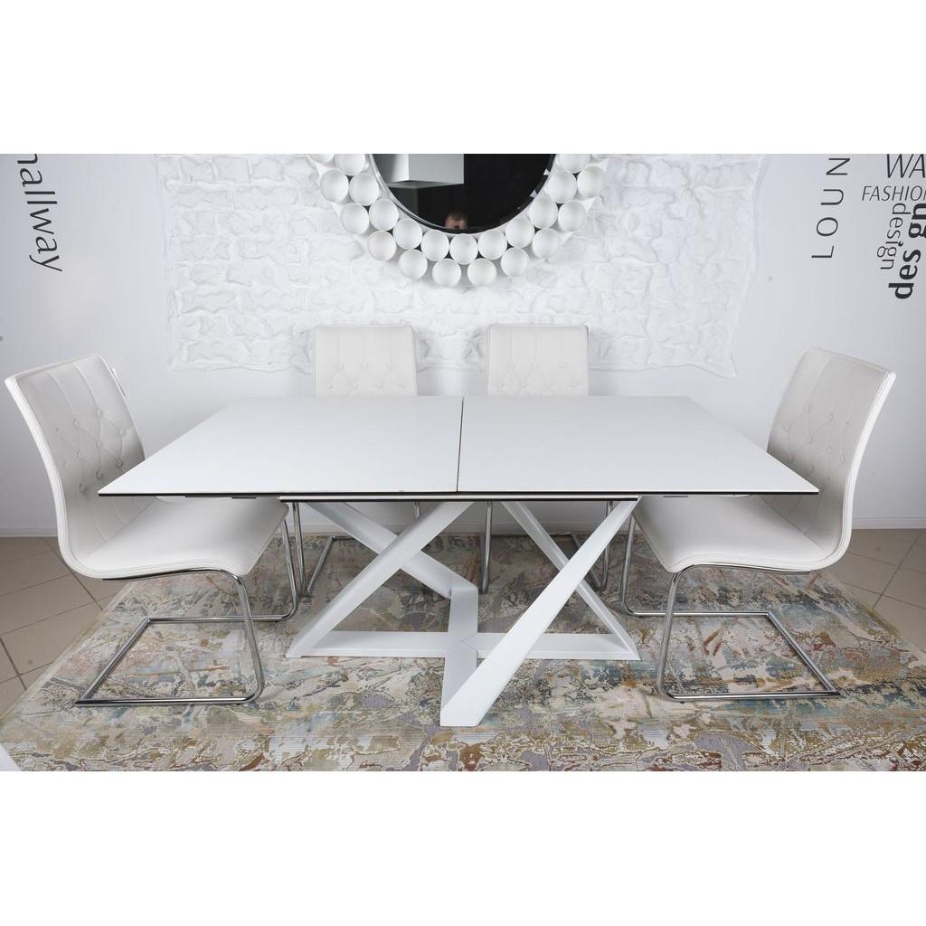 Fleetwood (Флитвуд) стол раскладной 160-240 см керамика белый