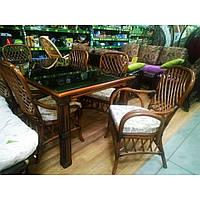 Feofaniya Premium (Феофания Премиум) комплект обеденный (стол + 4 стула +2 кресла) ореховый