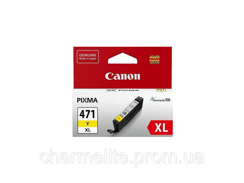 Картридж Canon CLI-471Y XL PIXMA MG5740/MG6840 Yellow