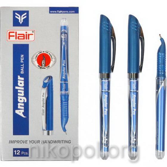 """Ручка масляная FLAIR Angular """"Левша"""" синяя"""