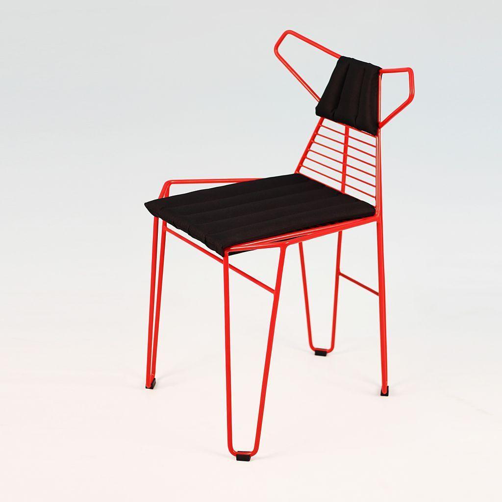 Fox (Фокс) стул металлический с подушками