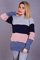 Свитер вязанный Катя (10 цв), женский свитер зима