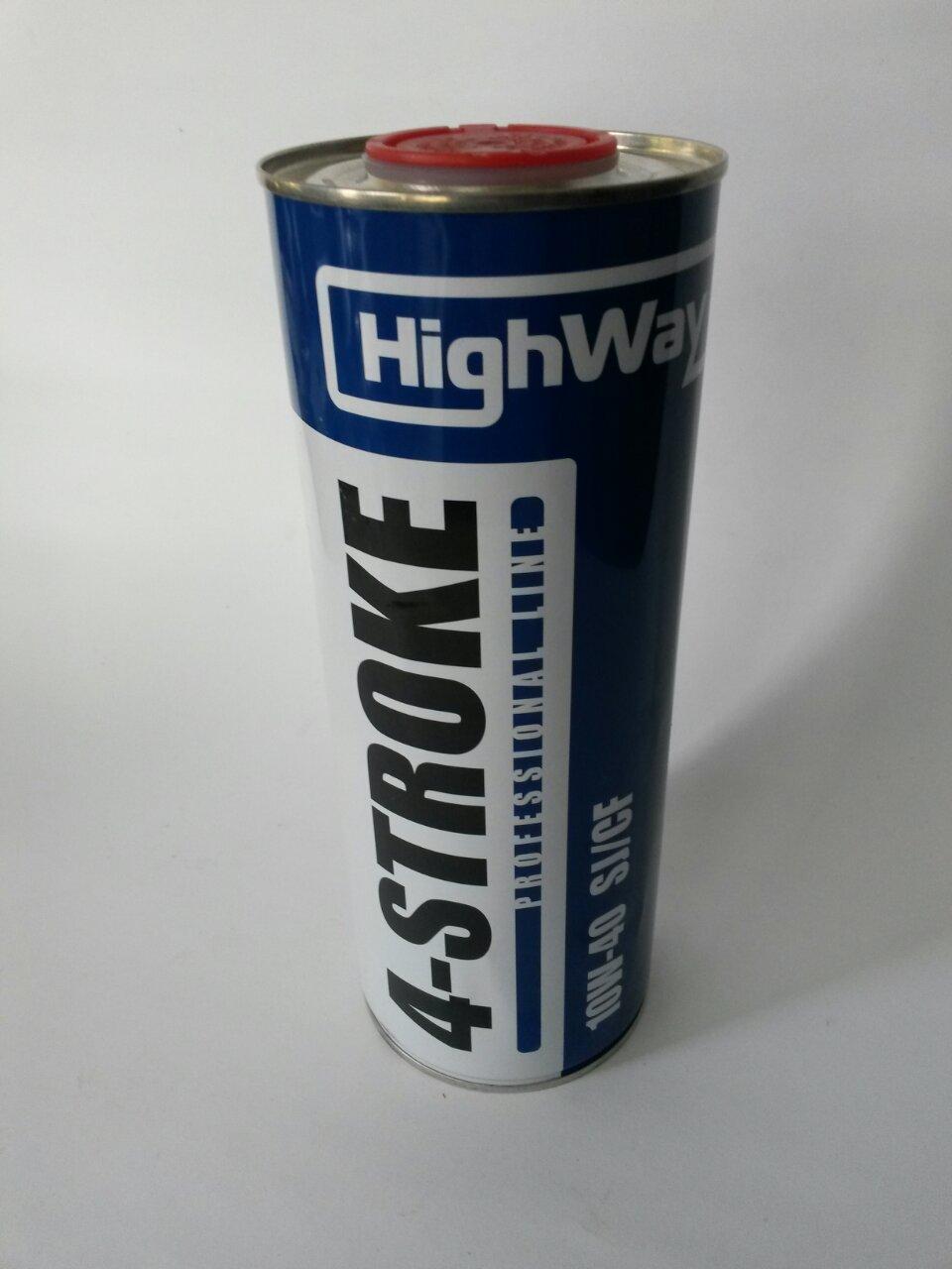 Масло HighWay 4-т полу-синтетика