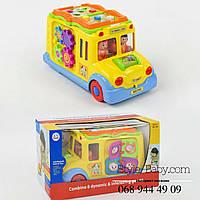 Игрушка Машинка Школьный автобус свет, звук, на бат-ке, в коробке
