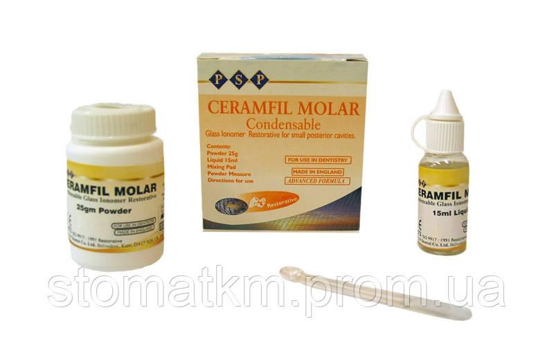 Керамфил Моляр (Ceramfil Molar) 25 г + 15 мл  NaviStom