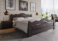 Кровать деревянная Корона из натурального дерева двуспальная, фото 1
