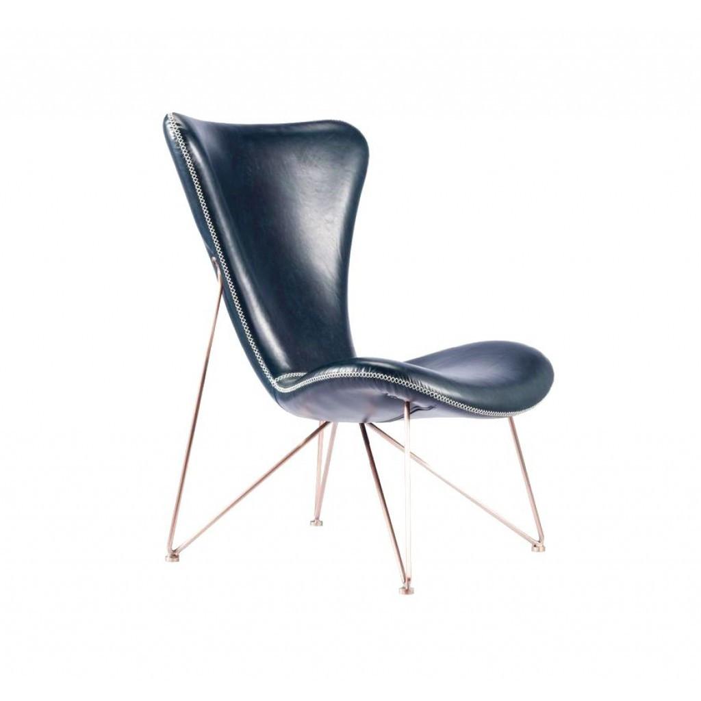Lenio (Ленио) кресло экокожа синий