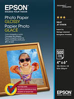 Бумага Epson 100mmx150mm Glossy Photo Paper, 500л