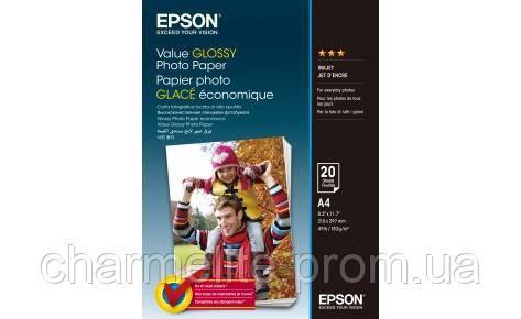 Бумага Epson A4 Value Glossy Photo Paper 20 л.