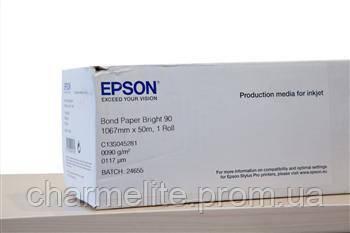 """Бумага Epson Bond Paper Bright (90) 42""""x50m"""