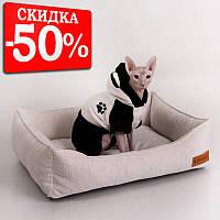 Cat Festive White - Праздничный (мягкий лежак с бортами для кота)