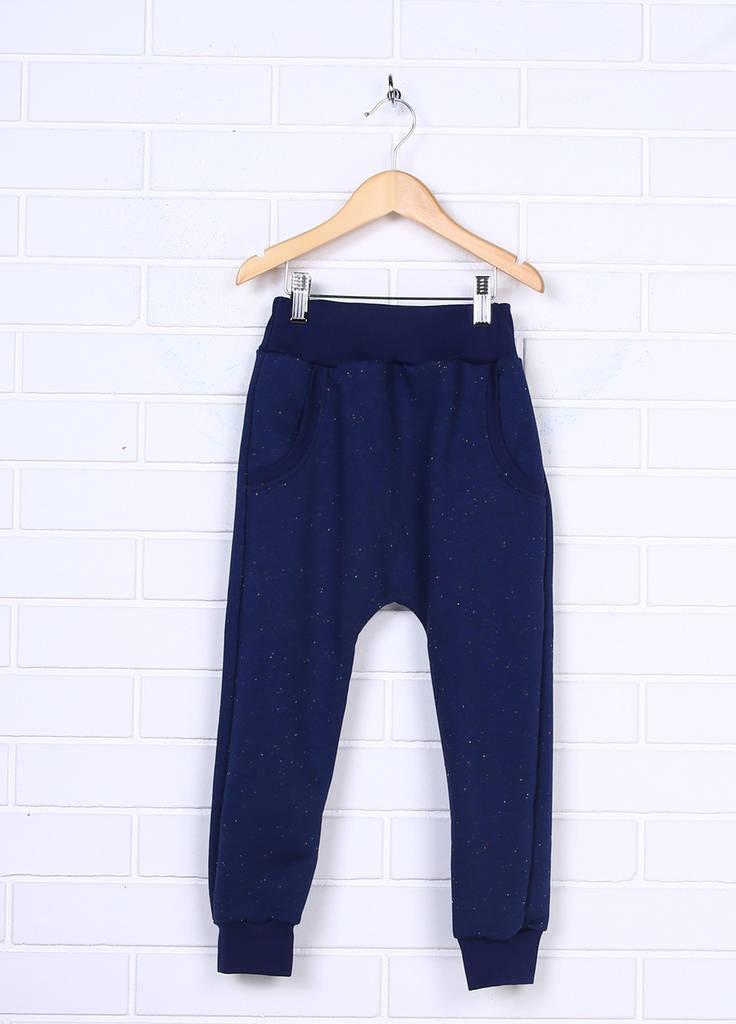 Детские штаны синие трехнитка